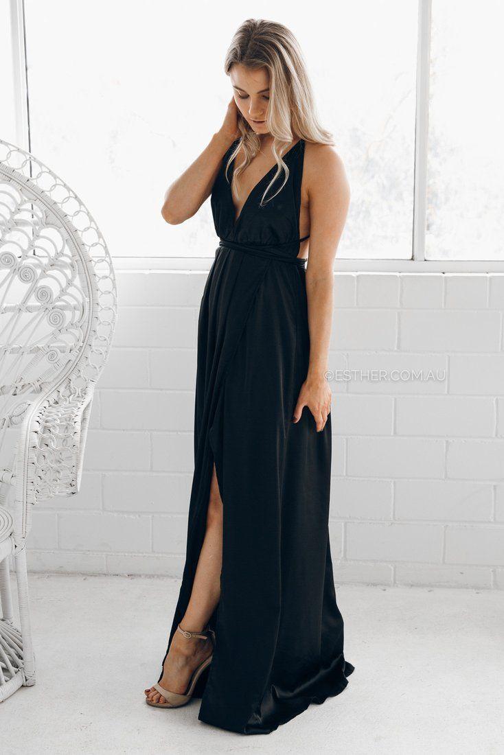 rourke maxi dress - black - Esther Boutique