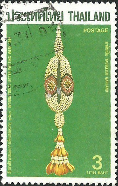 tasseled garland international letter writing week thailand 1987 postage stamps art and artifacts postage stamp art postage stamps stamp