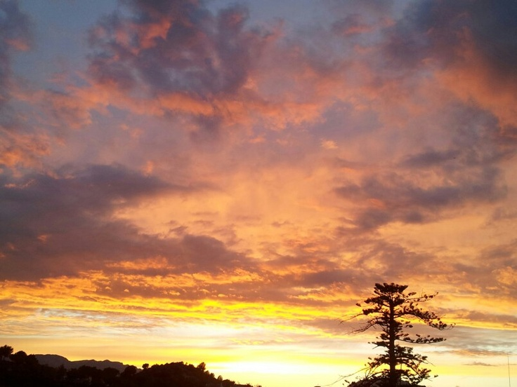 Desde mi ventana.Atardecer desde Cap Negret.ALTEA