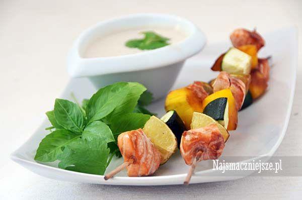 Szaszłyki z łososiem i mango, limonka, łosoś, mango, szaszłyki z rybą #grill http://najsmaczniejsze.pl