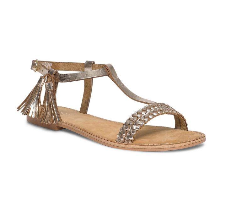 """""""Sandales plates dorées"""" marque Éram ^_^"""