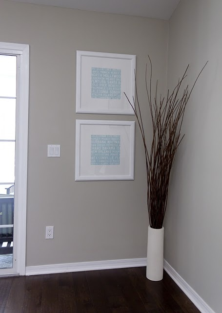 Light gray walls/ dark floors=pretty!!! Wall Color: Valspar's Bonsai