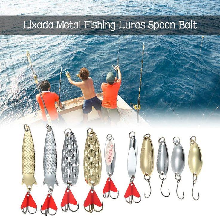 Lixada10PCS Metal Fishing Lures Bass Spoon Bait Sequins Deep Sinking Fishing Lures Metal Casting Fishing Fishing Tackle Hooks Sales Online - Tomtop #fishinghooks