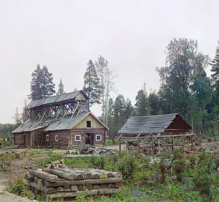 С. М. Прокудин-Горский. Завод для вяления рыбы 1916 год