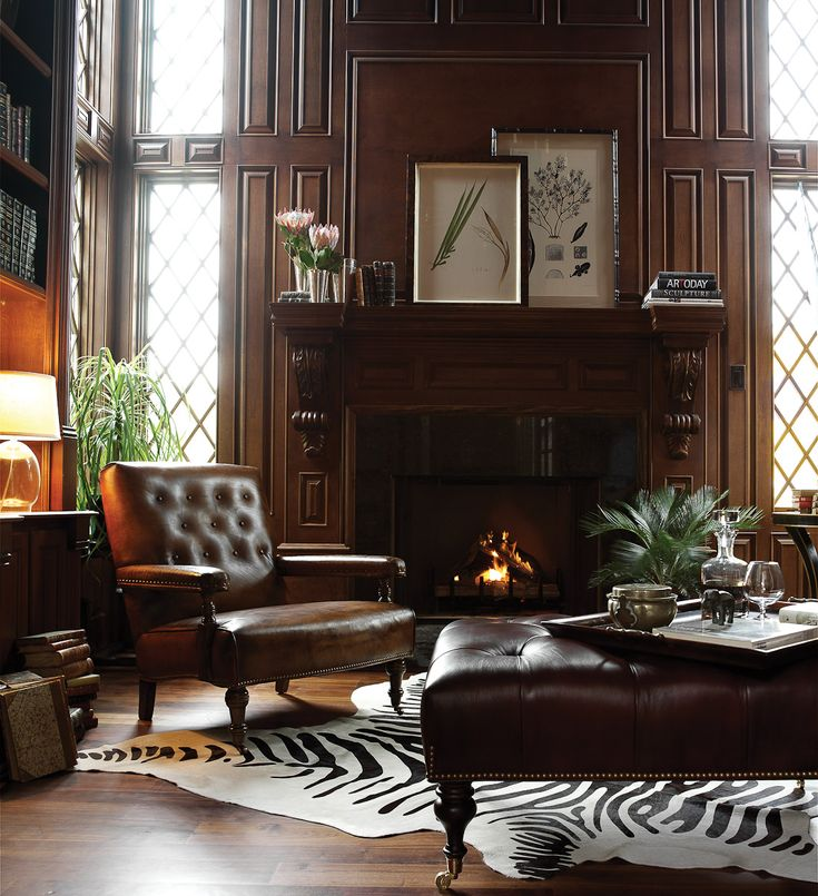 Hancock & Moore Fireplace Chair