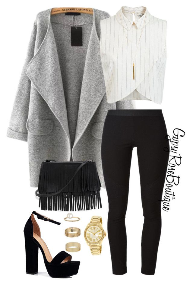 """#610"" by gypsyroseboutique on Polyvore featuring Helmut Lang, Miss Selfridge, Boohoo, White House Black Market, Vanessa Mooney and Michael Kors"