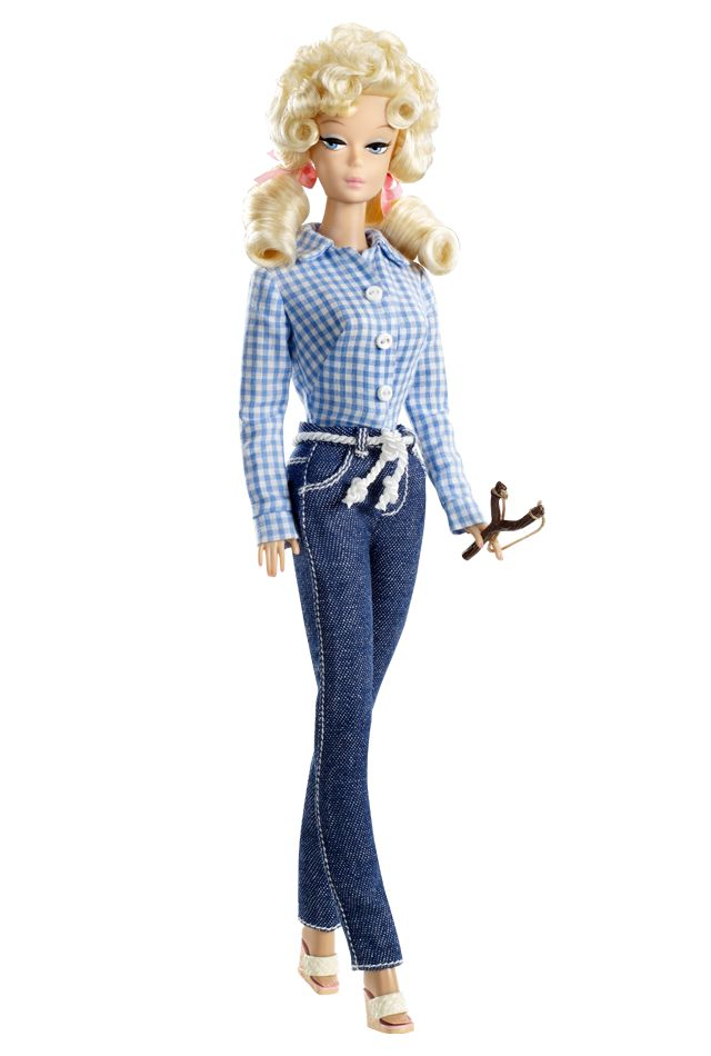 The Beverly Hillbillies™ Barbie® doll captures the essence of the classic '60s TV show, The Beverly Hillbillies. Pink Label Designed by Robert Best