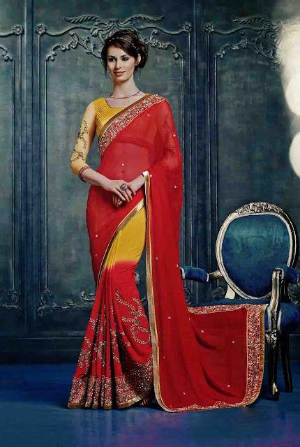 Drape in the #Best #Rajasthani Sarees for Your #Wedding @mokshafashions