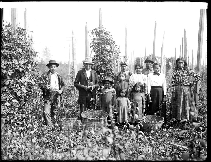 Washington State Historical Society - Group of Native American hop pickers in the White River Valley of Washington State.