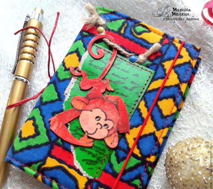 Купить Записная книжка Огненной обезъяны, записная книжка, записная книга, блокнот, блокнот ручной работы, со съемной обложкой