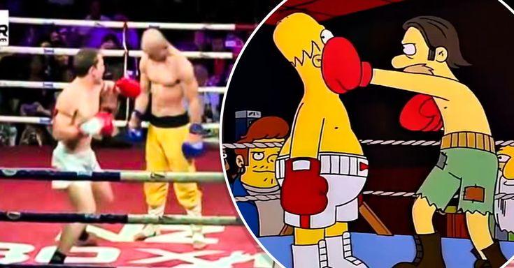 """Cuando ves esta pelea, es imposible no recordar a Homero Simpson en su faceta de boxeador-costal o a Julio César Chávez Jr. contra el """"Canelo"""""""