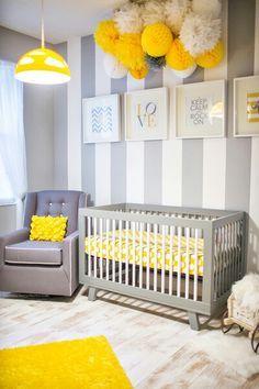 Quarto De Bebe   Cinza, Amarelo, Branco. Baby DecorBaby Room DesignBaby ... Part 60