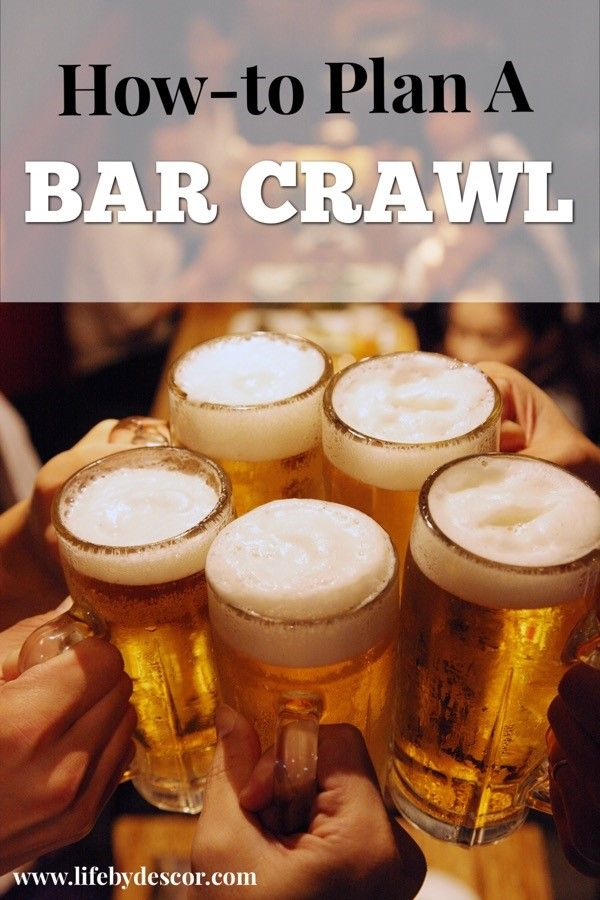 Want to Plan an awesome birthday or event? Try planning a bar crawl! It's an awesome way to get friends together for some bar hopping fun.