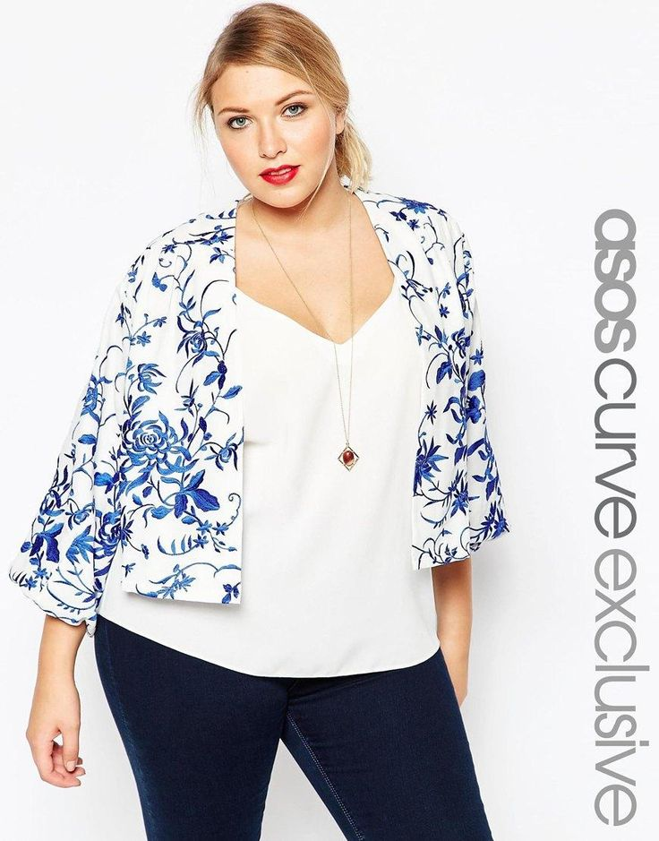 ASOS Curve | ASOS CURVE Embroidered Jacket at ASOS