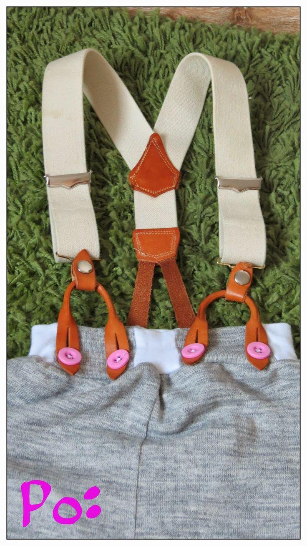 pumpy z dzianiny wełnopodobnej na szelkach szycie dzieci sewing kids diy