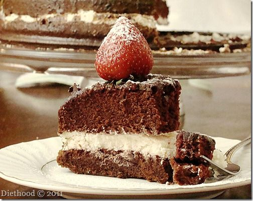 Chocolate Olive Oil Cake www.diethood.com #cake #recipe #chocolatecake