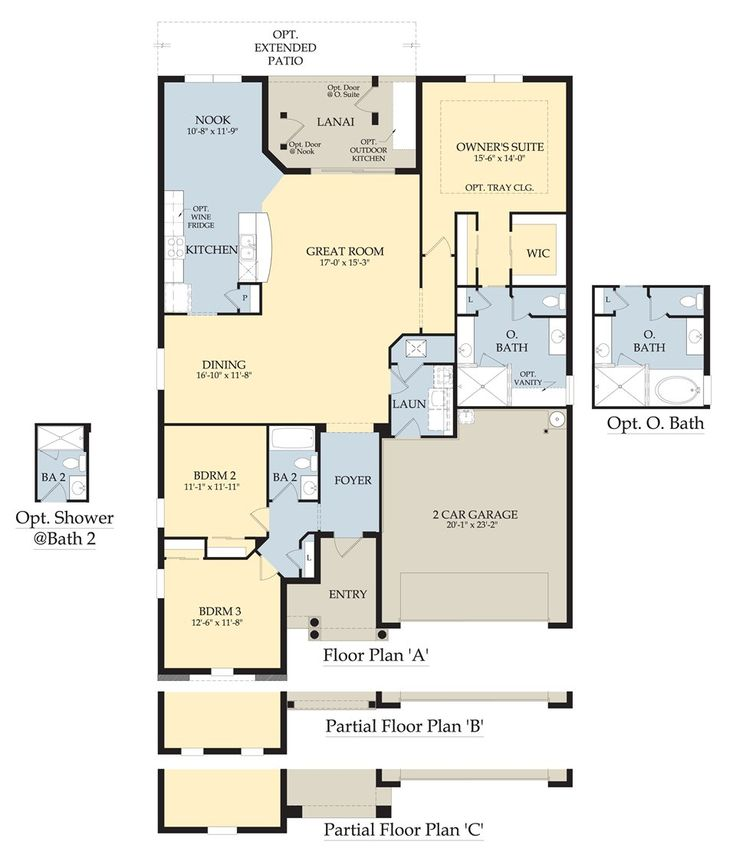 Spruce floor plan by pulte homes 2 000 3 bedroom 2 for 2000 sq ft garage plans