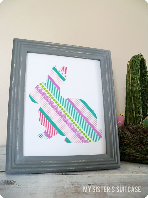 My Sister's Suitcase: Washi Tape Silhouette Art {Tutorial}