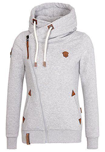 Naketano Women's Zipped Jacket Family Biz II (XS, Grey Melange) Naketano