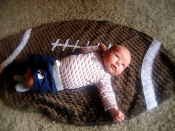 Kansas State University Football Baby Blanket by LovePitterPatter. K-S-U WILDCATS! This ultra cuddly and warm blanket can also be used as a photo prop, play mat, decorative rug in a sports themed nursery, or to snuggle with while cheering on the Cats.