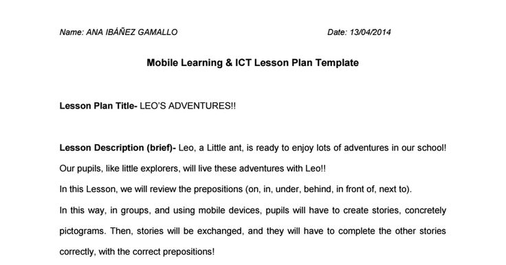 Mobile Devices may be very motivating for children! This is my Mobile Lesson Plan idea! ;)