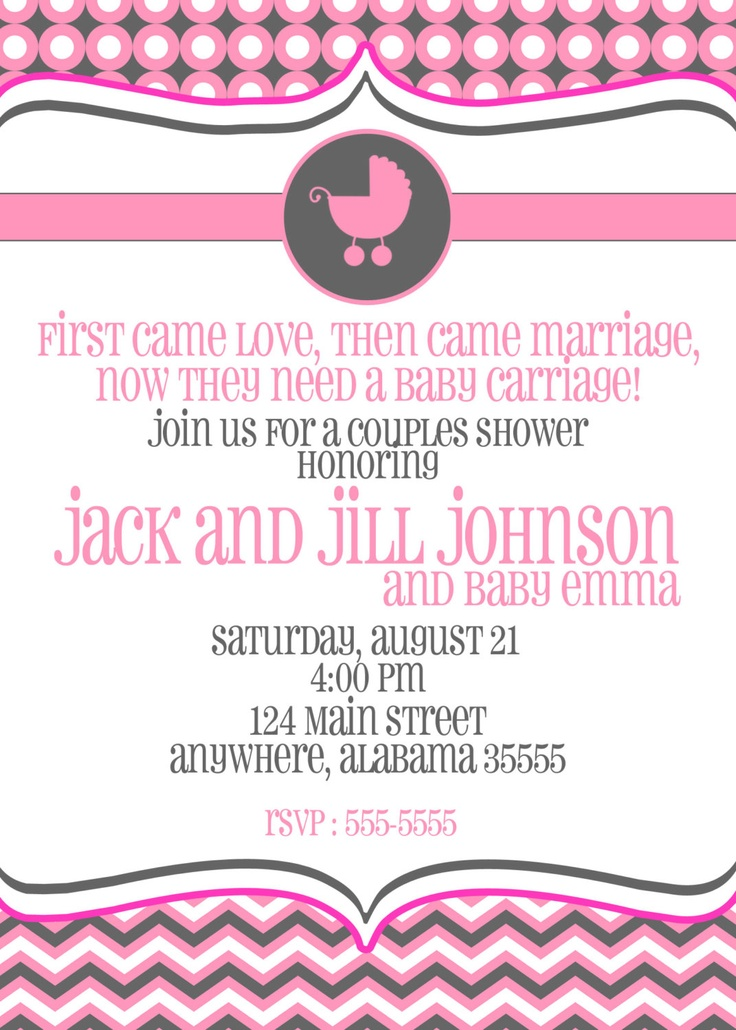 So cute! Couples Baby Shower, Sprinkle, or Sip and See Invitation -- Baby Carriage -- Custom -- Printable
