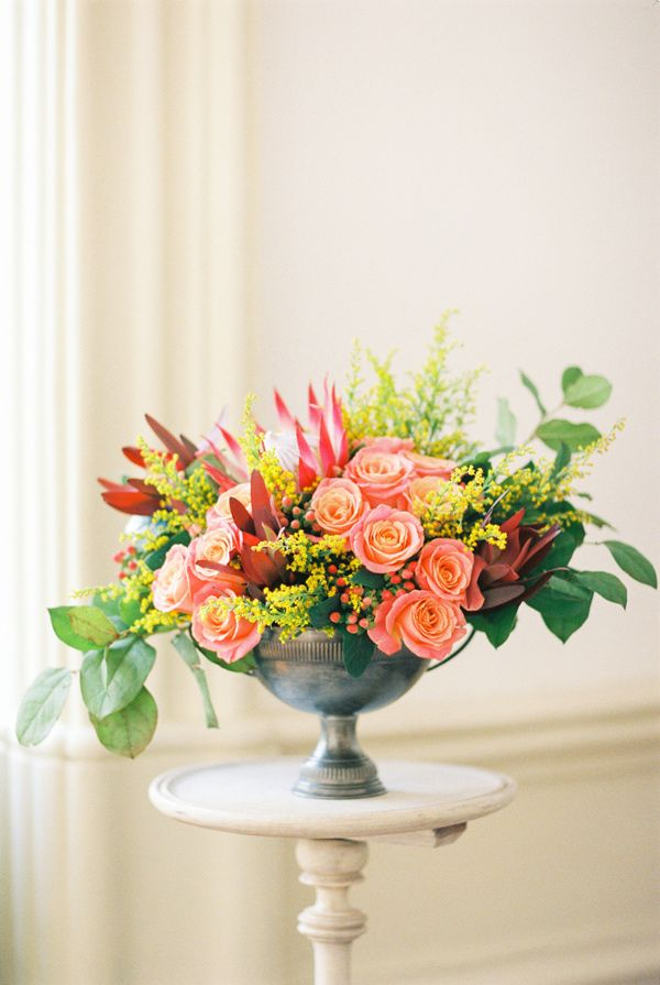 fantastic summer floral arrangement, photo by Branco Prata http://ruffledblog.com/porto-romantic-wedding-inspiration #flowers #centerpieces