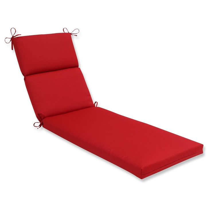Outdoor Chaise Lounge Cushion - Red