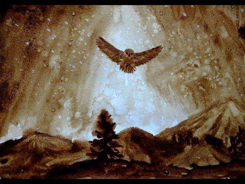 Видеоурок: как нарисовать кофейную сову с люминофором - Ярмарка Мастеров - ручная работа, handmade