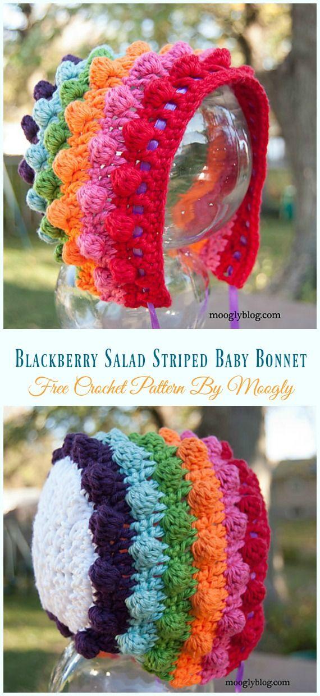 Baby Bonnet Hat Free Crochet Patterns Zukünftige Projekte