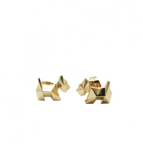 SCOTTITEK - Stud earrings with faceted AGATHA Paris Scottie dog from the AGATHA Paris Electro Batik fashion jewellery collection