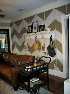 How to paint Chevron Stripes for an accent wall