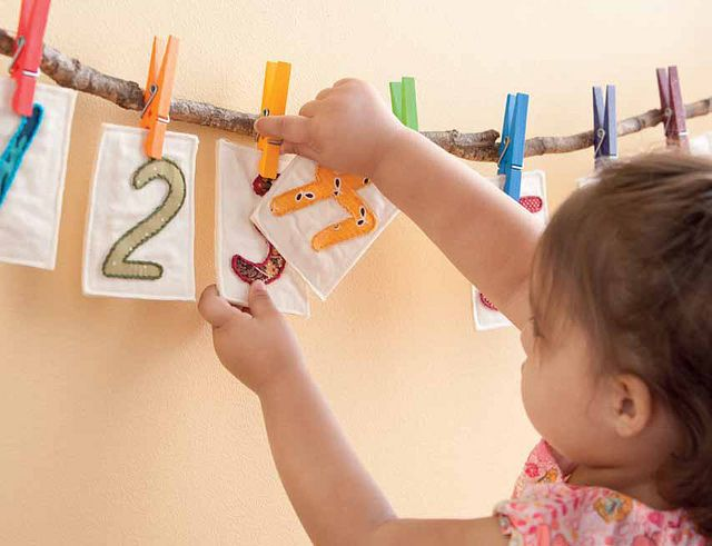 clothes pins and numbers to keep toddler busy. from my book, growing up sew liberated by sew liberated, via Flickr