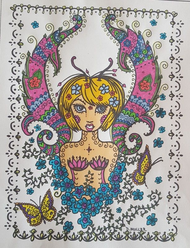 Creation by mimi17, coloring page from the gallery Zen and Anti stress