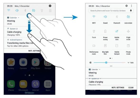The revised Galaxy S7 edge user manual for android nougat gives you a good look at the new user interface that will grace the devices with the Nougat update