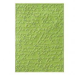 Embossing-Prägefolder/ -schablone Alte Schrift 2 10,6x15cm