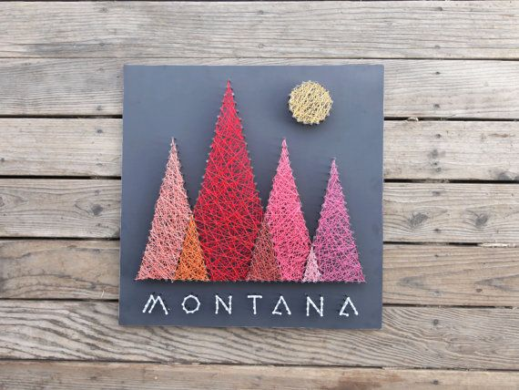 Montana Mountains String and Nail Art Bozeman por stringandnail0