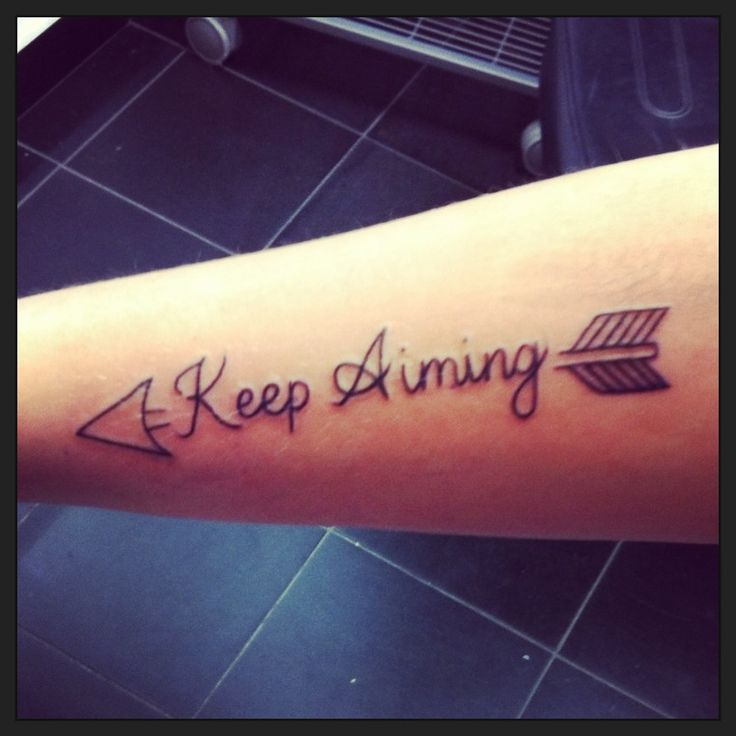 Keep Aiming. An Arrow Can Only Be Shot Forward By Pulling