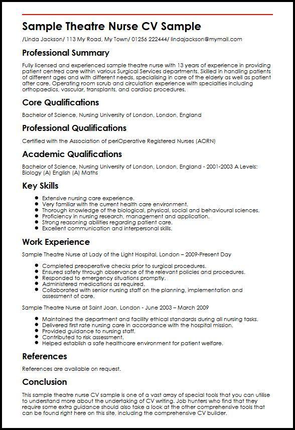 Nursing Resume Sample Writing Guide Nursing Resume Template