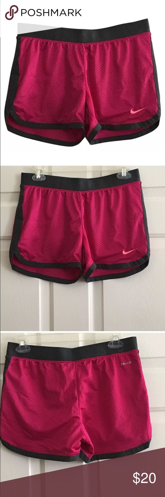 Nike Dri Fit Running Exercise Workout Shorts Berry Pink Nike Dri Fit Running Jogging Exercise Workout Shorts - Small. Worn once. Nike Shorts