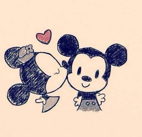 Mickey and Minnie. Love. ♥