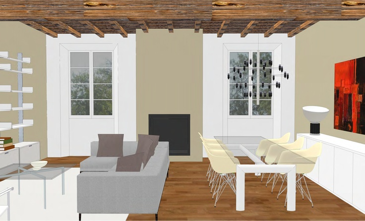 interior design - flat in historical building - 2012 - living room