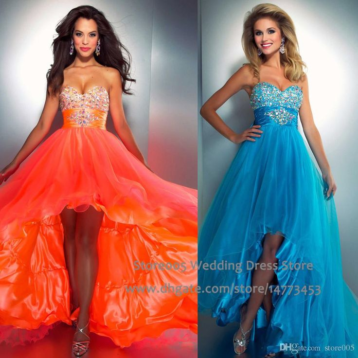 Sparkly Orange Blue High Low Prom Dresses Bow Crystal Graduation Evening Gowns 2015 Sweetheart Robe De Soiree E2986 Asian Prom Dresses Blue Prom Dresses Uk From Store005, $100.51| Dhgate.Com