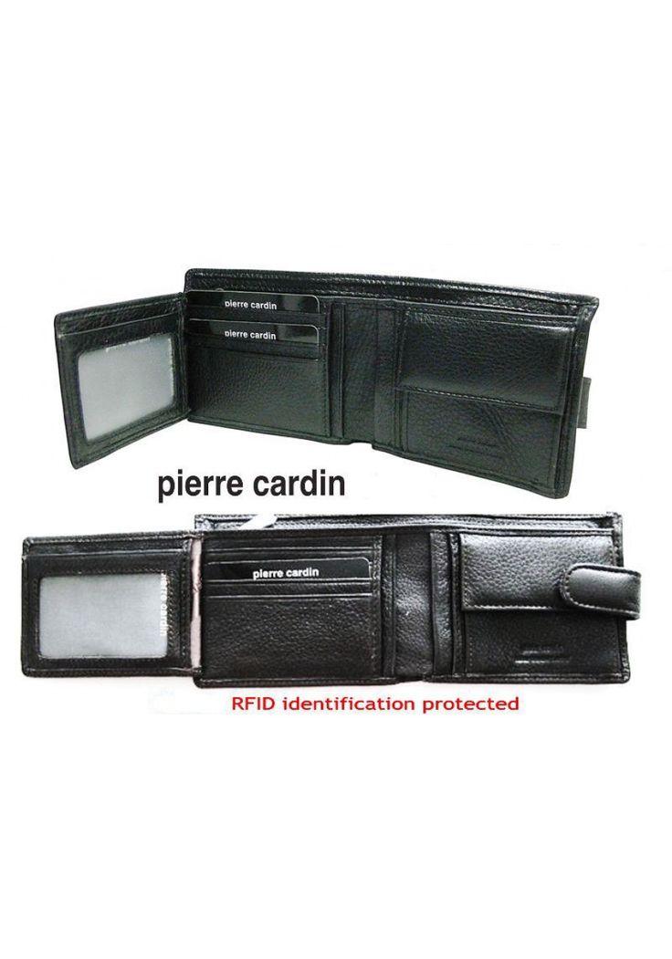 Pierre Cardin - Soft Genuine Italian Leather Wallet - Black - Best Seller on eBay
