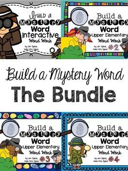 Need a challenging and engaging way to keep your Upper Elementary students working on words? The 30 Build A Mystery Word sheets in this bundle are a great way to get your students actively manipulating letters to create new words.