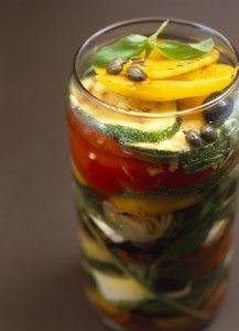 geroosterde groenten op olie   , om het lekkers van de zomer te bewaren