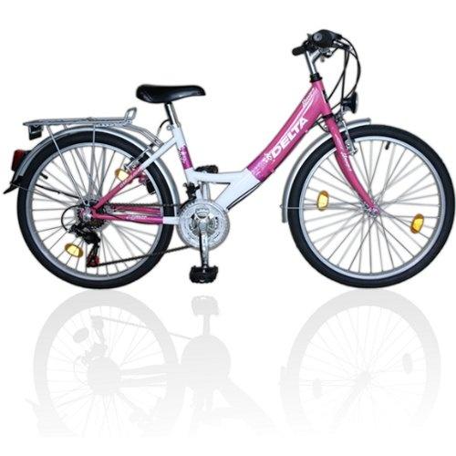 24 Zoll Kinderfahrrad 18-Gang Shimano Schaltung EU-Produkt Rosa-Weiss