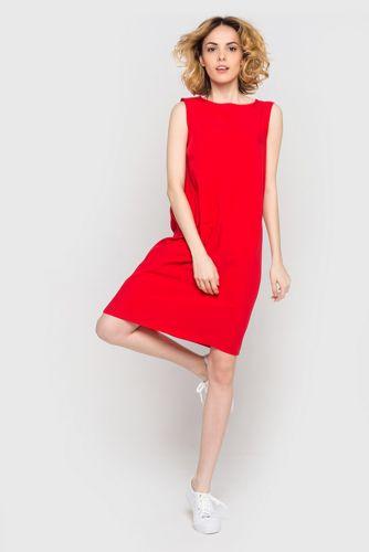 Платье-майка штапель красное
