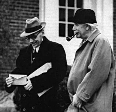 Kurt Gödel and Albert Einstein regularly walked together in Princeton, New Jersey while working at the Institute for Advanced Study.