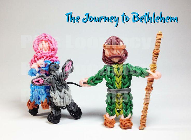Pg David. Rainbow Loom FB page. NATIVITY Scene characters.